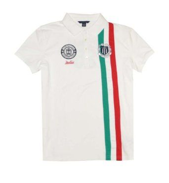 wholesale dealer c3708 a494e Tommy Hilfiger Women Slim Fit Italia Logo Polo T-shirt (XXL ...