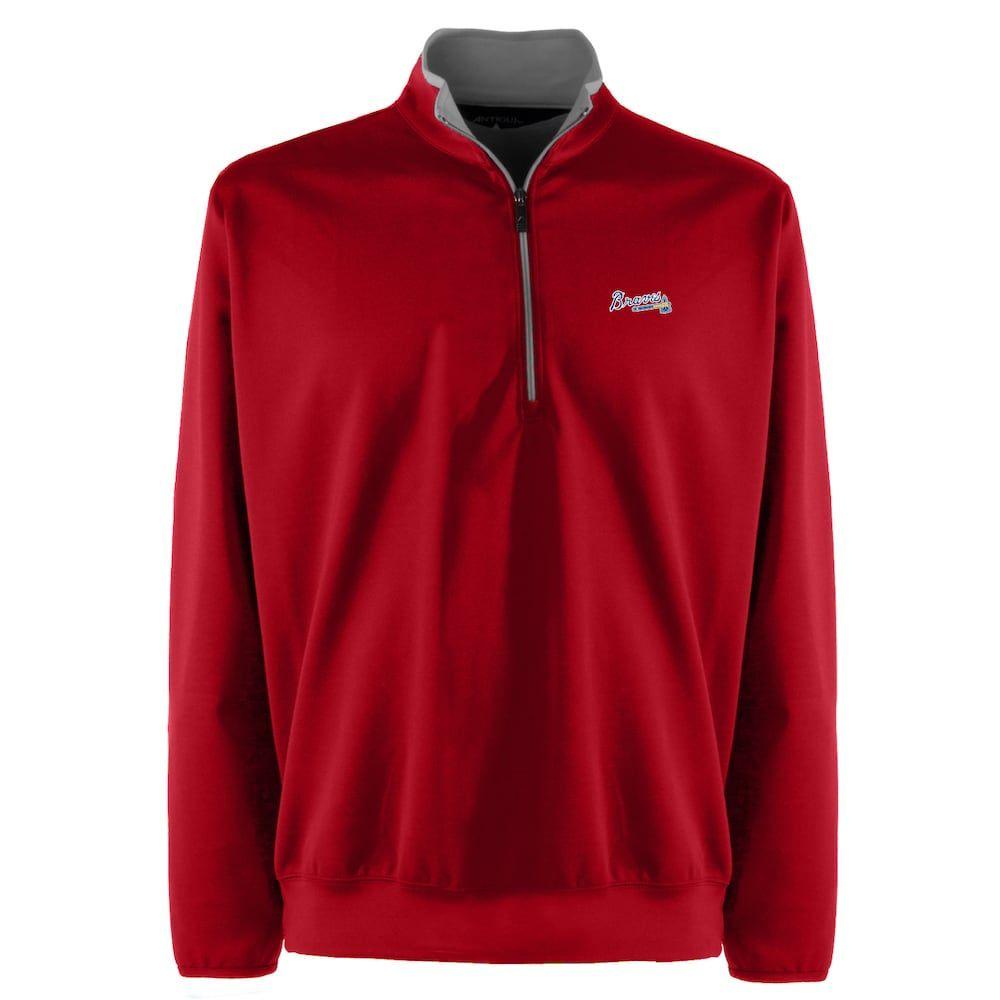 Men S Atlanta Braves 1 4 Zip Leader Pullover Ncaa Apparel Team Wear Pullover