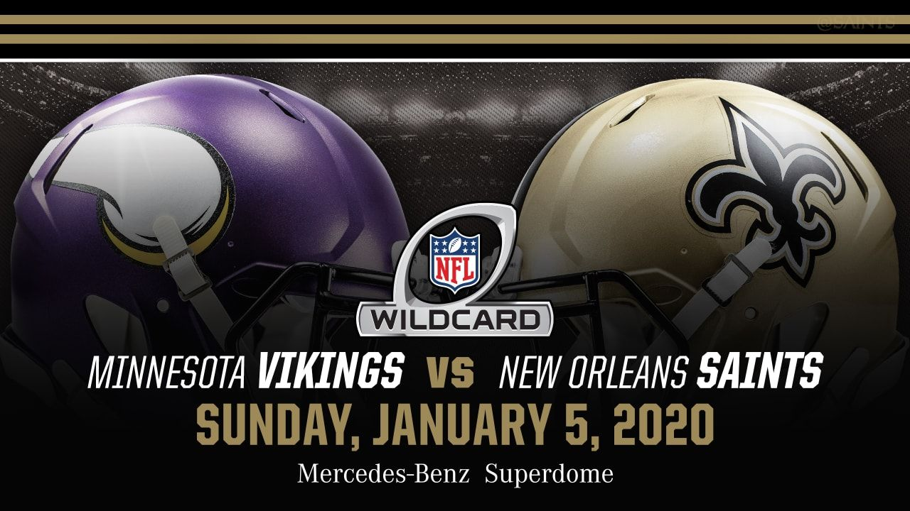 Minnesota Vikings Vs New Orleans Saints Nfl Nfc Wild Card Playoffs 2020 Live Stream At 01 05 Pm Et In 2020 New Orleans Saints New Orleans Saints Game Minnesota Vikings