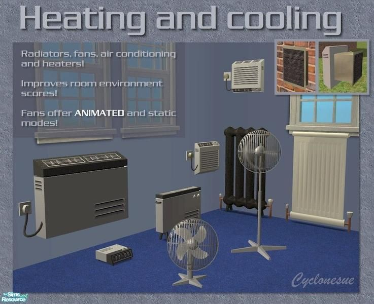 Heating And Cooling Decorative Liances For Your Sims Each Improves A Sim S Room Environment The Fans Are Animated But Can Be Switched Off Too
