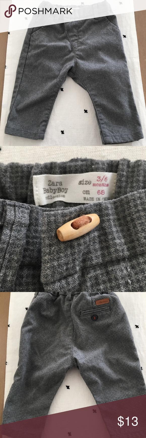 SALE Zara Baby Boy Gray Pants Trousers 3-6 months   Zara ...