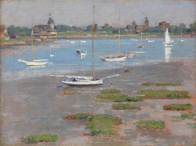 Low Tide, Riverside Yacht Club, 1894 Theodore Robinson (American, 1852–1896) Oil on canvas