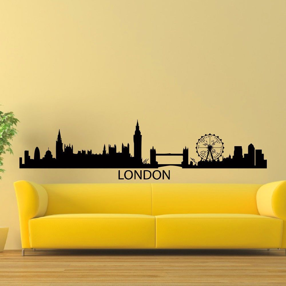 London England Skyline City Silhouette Vinyl Wall Art Decal Sticker ...