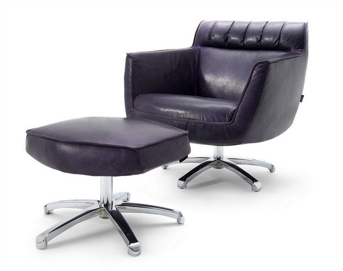 Sessel Leder Schwarz Sessel Mit Hocker Sessel Lounge Stuhl