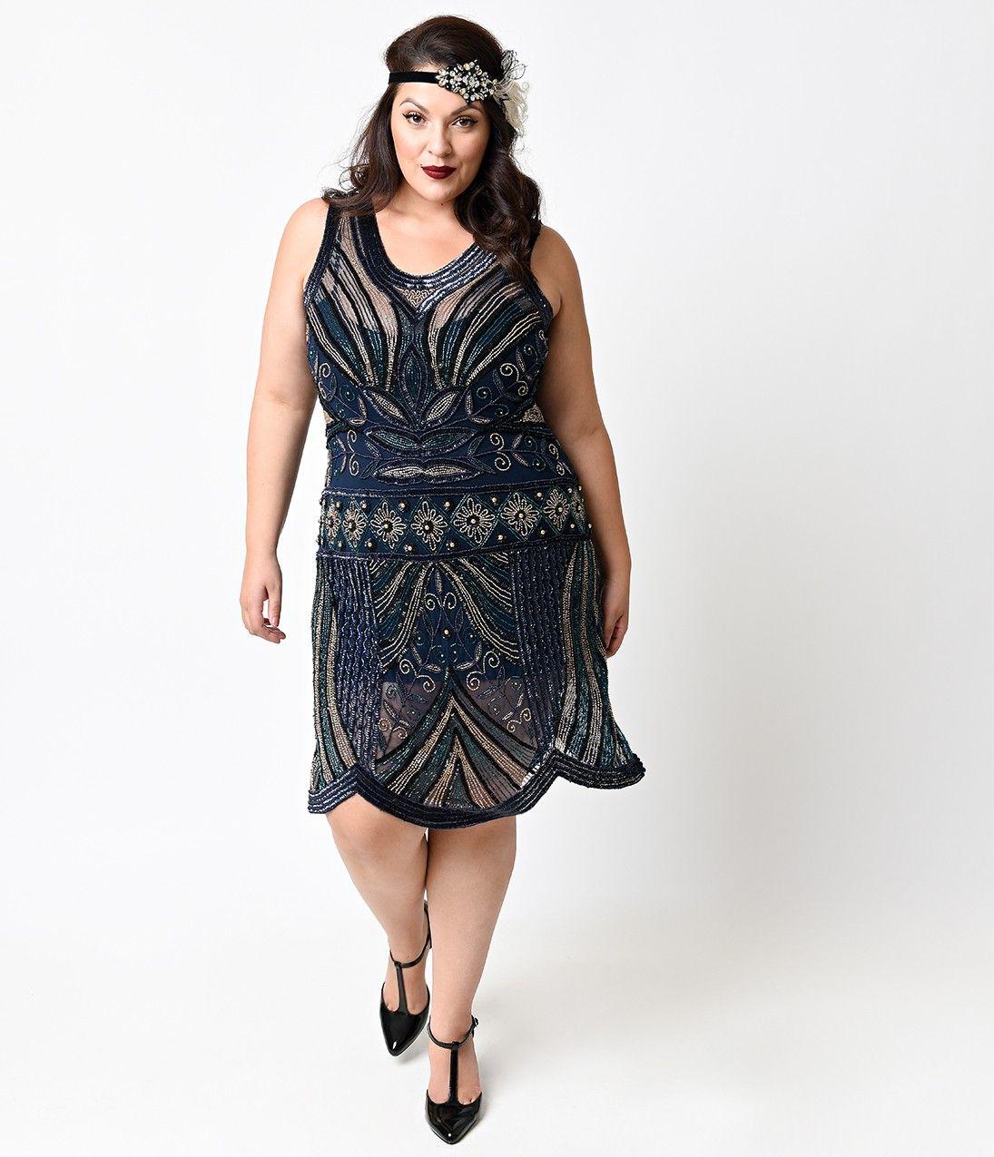 Vintage 20s dresses plus size