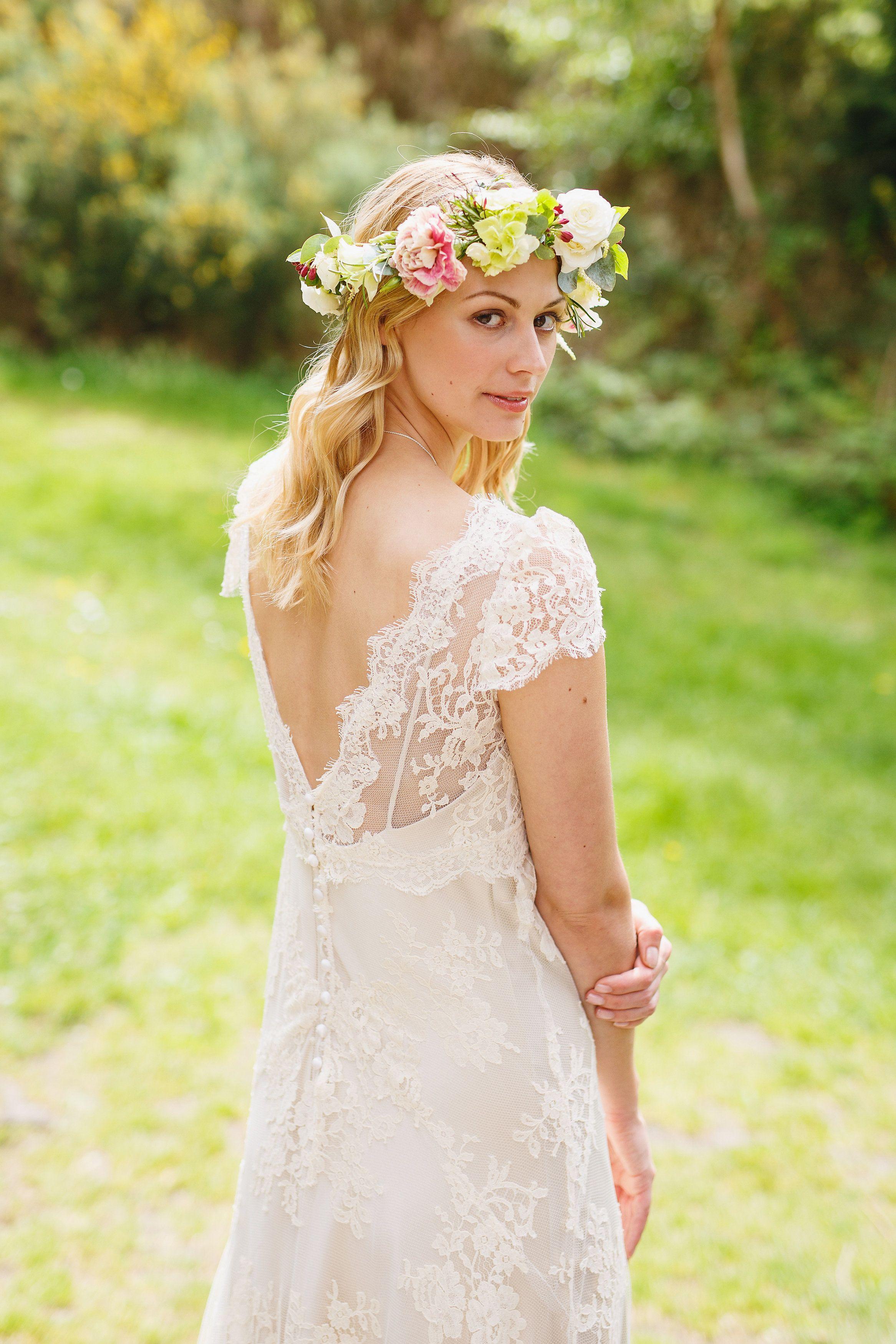 Lace boho wedding dress by Dana Bolton | Vestido ❤ | Pinterest ...