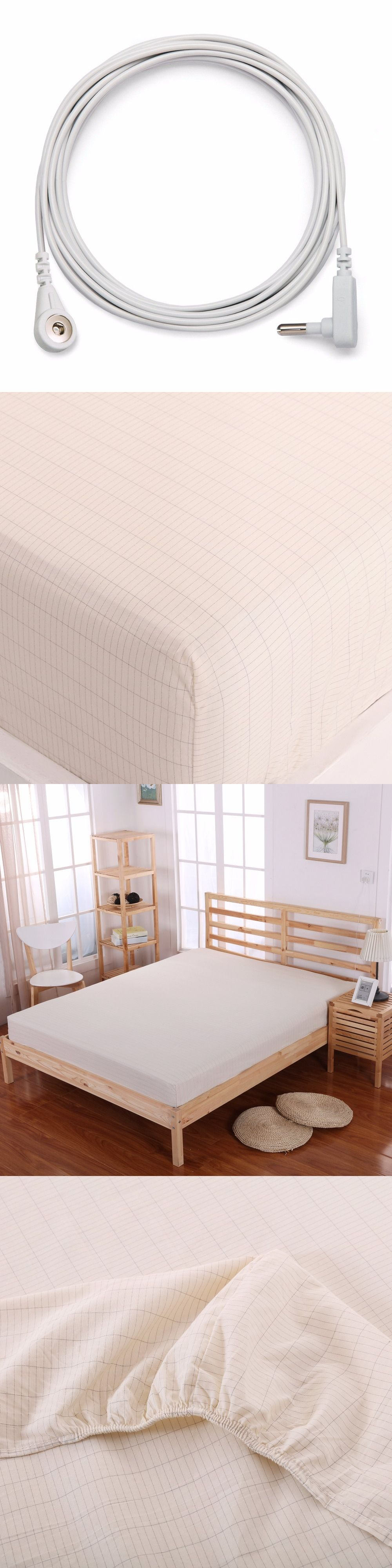 Fitted Sheet (137x 203cm) Cotton Sheet Conductive Fabric Grounded Kits Anti  Static Antibacterial Sheet