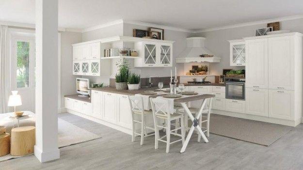 Idee per arredare una cucina classica - Cucina bianca classica ...
