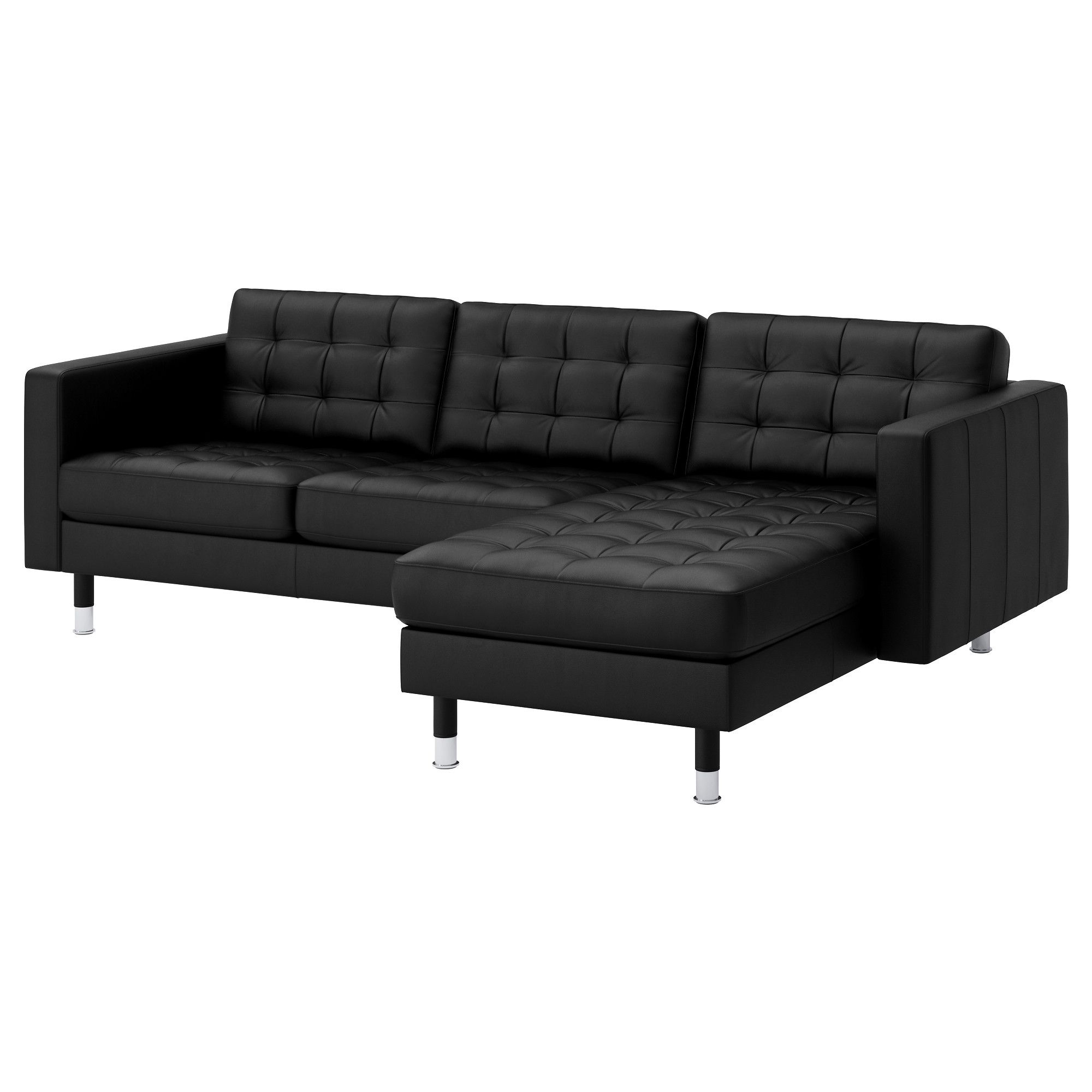 LANDSKRONA 3 seat sofa With chaise longue grann bomstad black metal