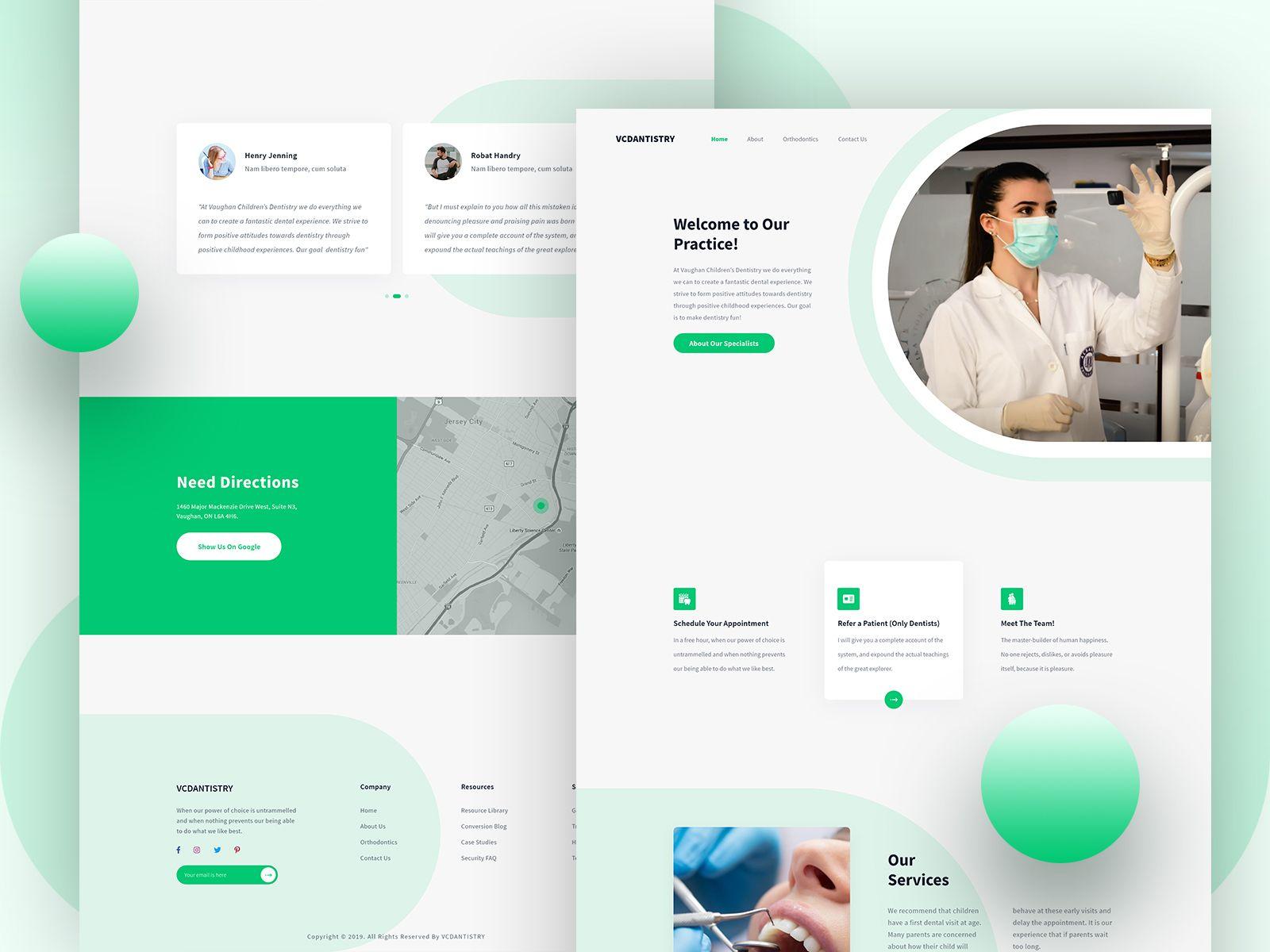 Dental Landing Page Design Dental Website Landing Page Design Medical Website Design