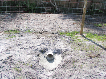 Yard Drainage Swale - PVC Drain Pipe...A 6-inch PVC drain pipe was buried on a 1/2 bubble slope (set using a carpenteru0027s level) that emptied into the ... & Yard Drainage Swale - PVC Drain Pipe...A 6-inch PVC drain pipe was ...