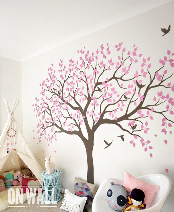 gro er baum wall decals b ume decal baumschule von onwallstudio livias zimmer pinterest. Black Bedroom Furniture Sets. Home Design Ideas