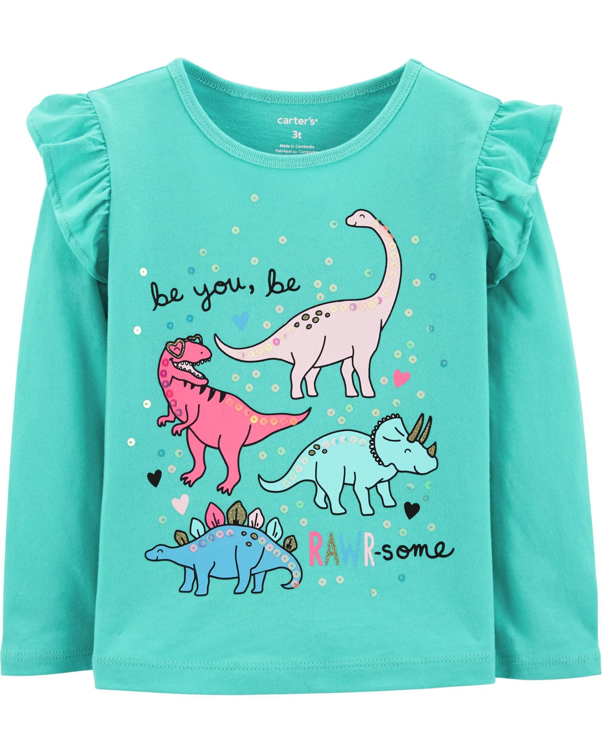 d87419d5eec5 Dinosaur Flutter Tee | Baby Girl | Clothes, Stylish baby clothes ...