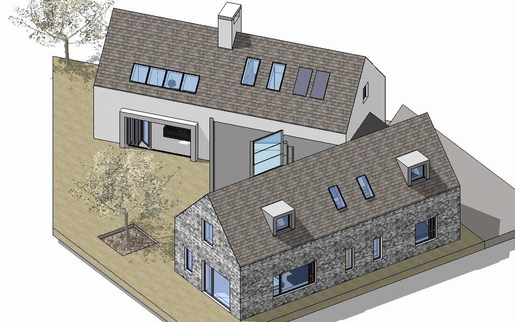 4 Bedroom Modern House Plans Beautiful Contemporary 4 Bedroom Irish Countryside Dwelling In 2020 Modern House Plans Irish House Plans House Plans