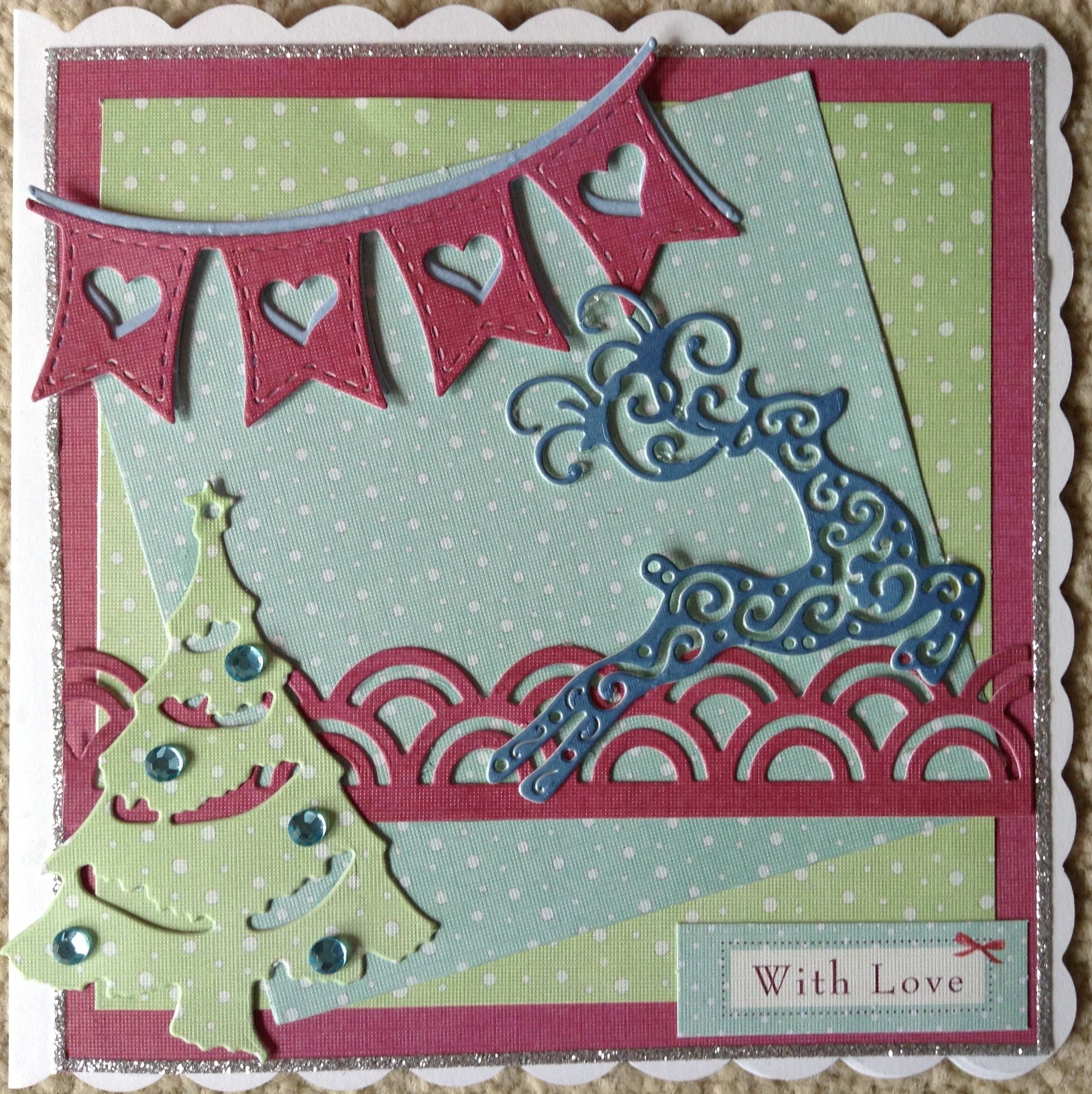 Marianne Tree, Lala Land Banner And Tattered Lace Reindeer