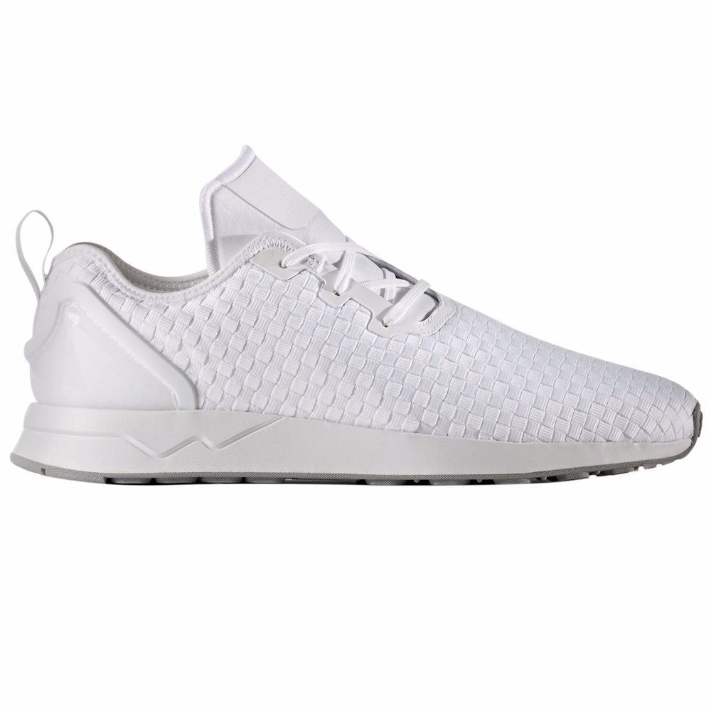 e2c56b2dd68745 ADIDAS ORIGINALS ZX FLUX ADV ASYM WHITE WHITE TRAINERS - UK 10  adidas