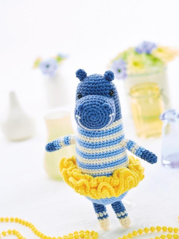 Ballerina hippo | Amigurumi | Pinterest | Hipopótamo y Tiernas