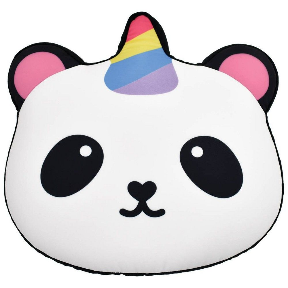 2 ScoopsMicrobead Pillow- Pandacorn Glitter