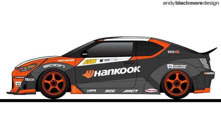 Livery Design For 2014 Papadakis Racing Hankook Tires Scion Tc Of Fredric Aasbø Sponsored By Speedhunters Super Cars Scion Art Cars