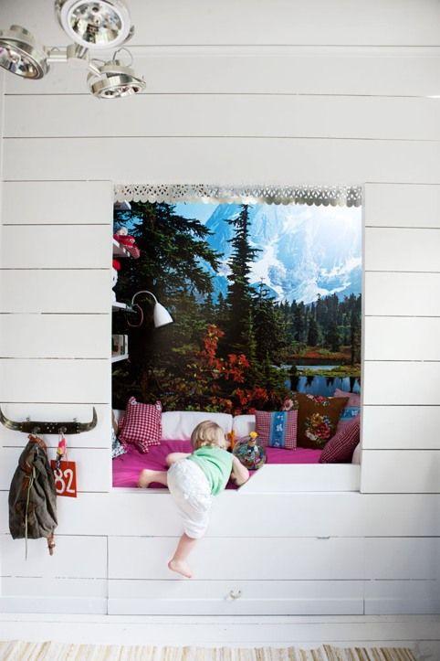 1-built-in-kids-beds bedstee stapelbed bunk bed hoogslaper babykamer kinderkamer children kids room nursery