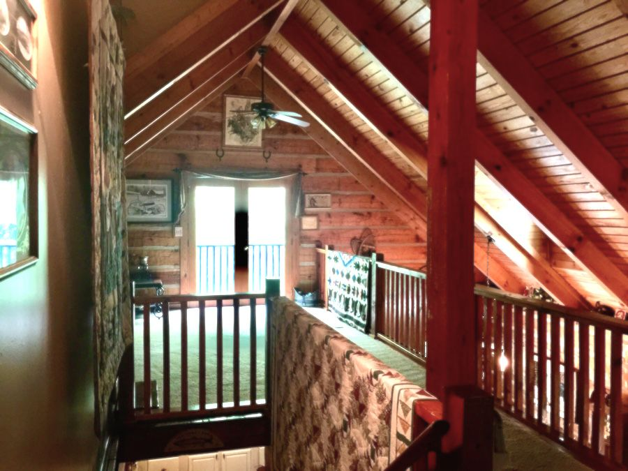 Loft of Southland Log Home now available in Asheville Nc