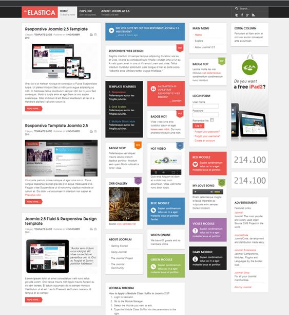 Google Website Templates This Free Flat Joomla Theme Has A Responsive Design A Masonry