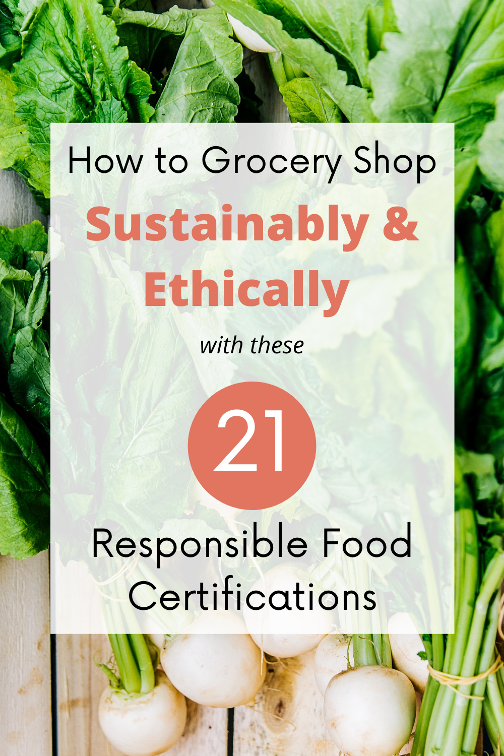 This guide provides a glance at the sustainable and ethical food certifications out there and what makes each of them unique in three overarching categories: (1) worker welfare, (2) sustainable agriculture, and (3) animal welfare.     #eco #ecofriendly #sustainable #sustainableliving #ethical #responsible #sustainablefood #sustainableagriculture #food #grocery #healthy #animalwelfare