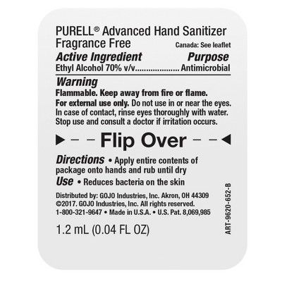 Purell Singles Advanced Hand Sanitizer Gel With Carry Pouch Hand