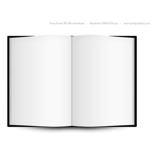 Blank Open Book Template Psdgraphics  Liked On Polyvore