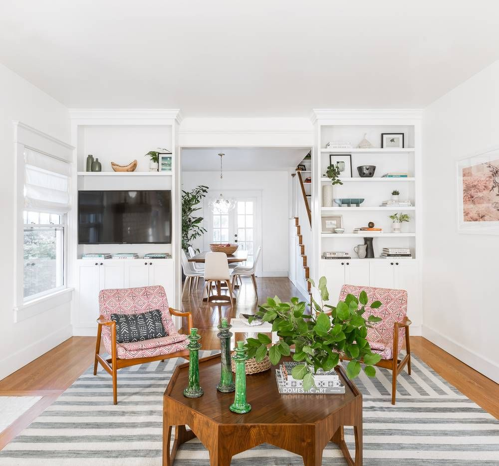 Boho Meets Modern in This Light and Airy Home | Green accents, Cheap ...