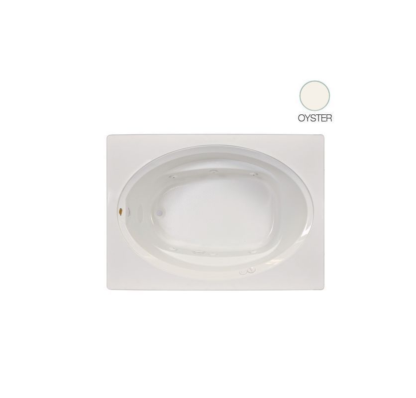 "Jacuzzi J1S6036WLR1HX Signature 60"" Acrylic Whirlpool Bathtub for Alcove Install Oyster Tub Whirlpool Alcove"