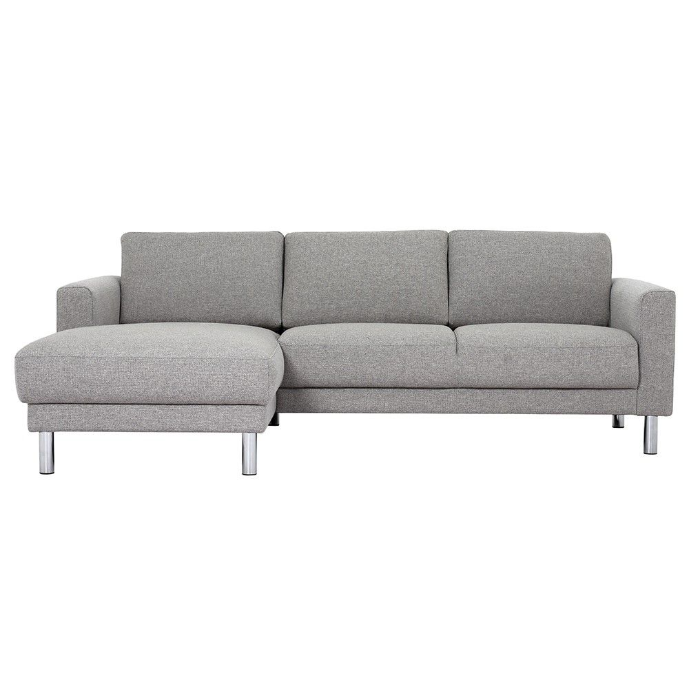 Chaise Longue Sofa Light Grey Luluna Corner Sofa Fabric Sofa Corner Sofa