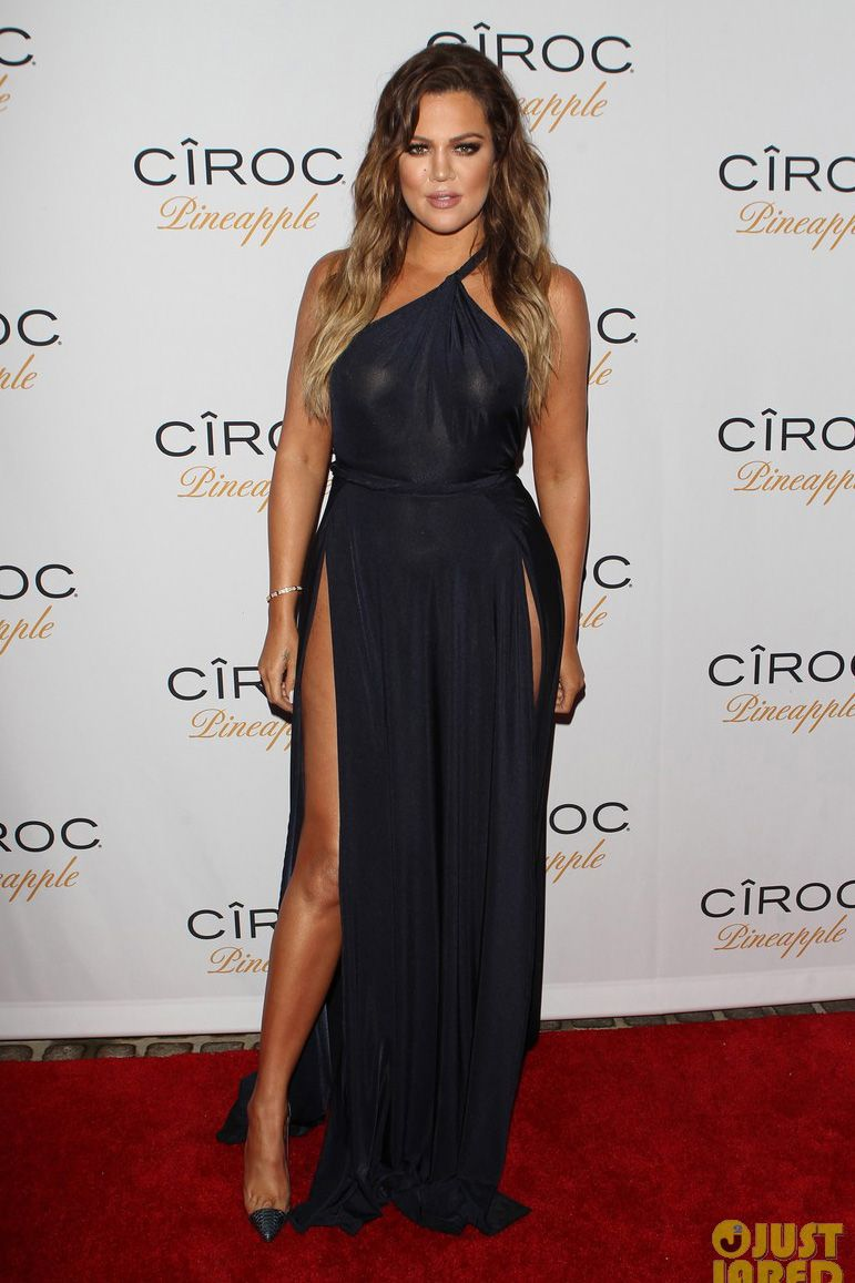 Khloe Kardashian Dark Navy Evening Dress Celebrate French Montana S Birthday Navy Evening Dresses Hot Prom Dress Celebrity Inspired Dresses