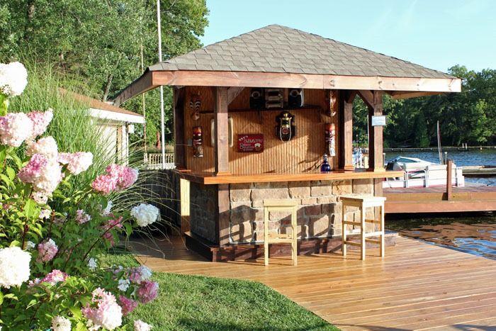 20 Incredible Out Door Home Bar Designs | Lake life, Lakes and Bar