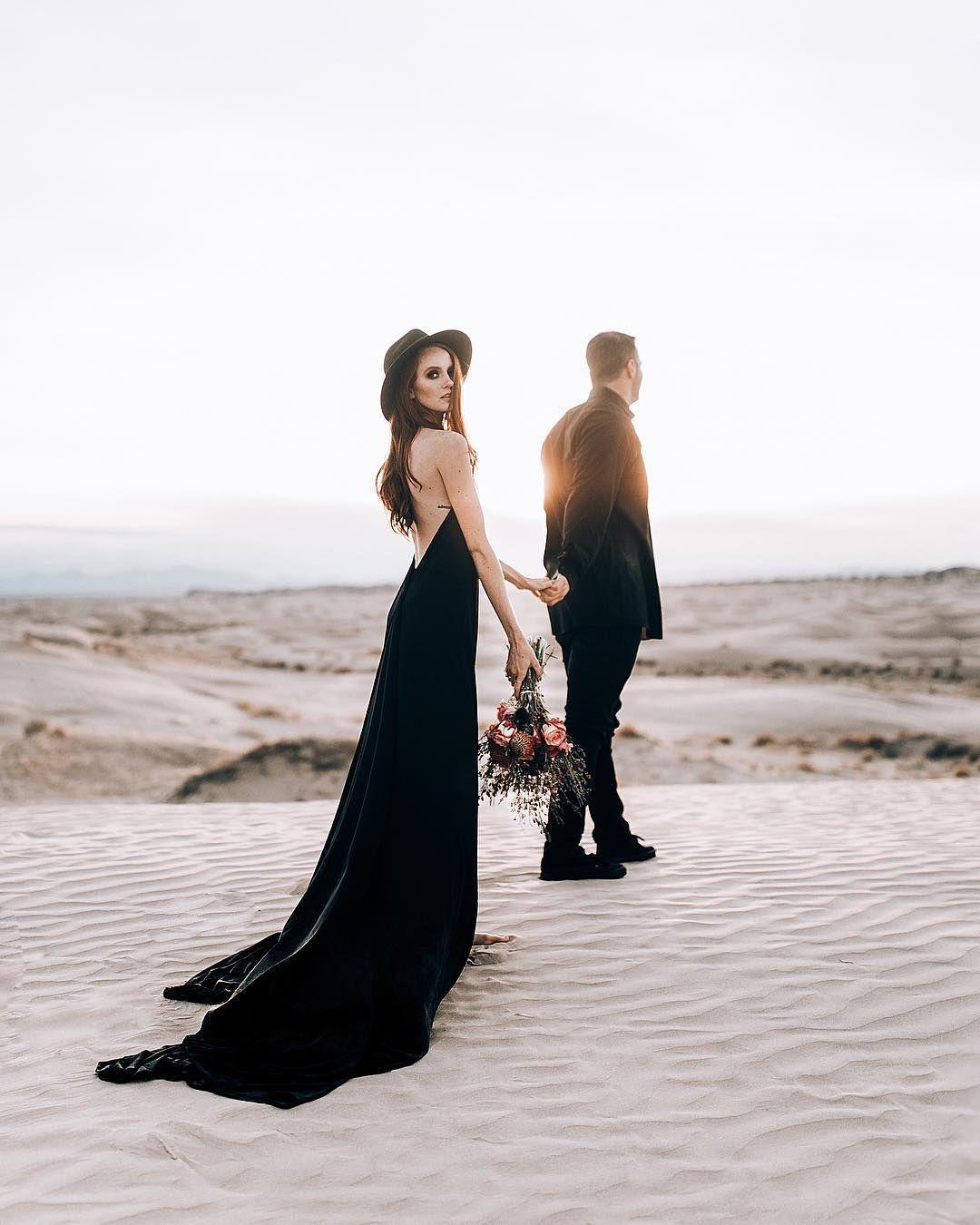 couplegoals #couple #blackdress | flths | Wedding photo