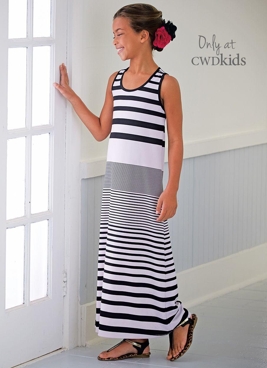 a46a39070ecc From CWDkids  Variegated Stripe Maxi Dress