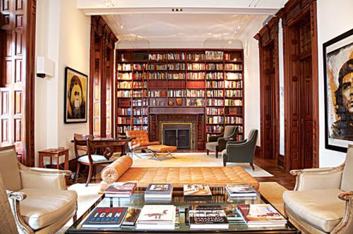 bookshelves -another design with bookcase surrounding fireplace, great use of space