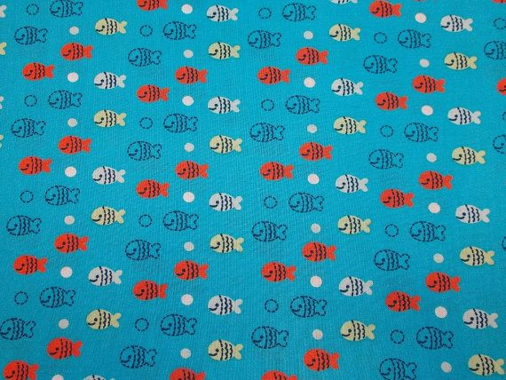 Out To Sea Fish Fabric By The Yard FBTY by CutiePieCraftSupply,