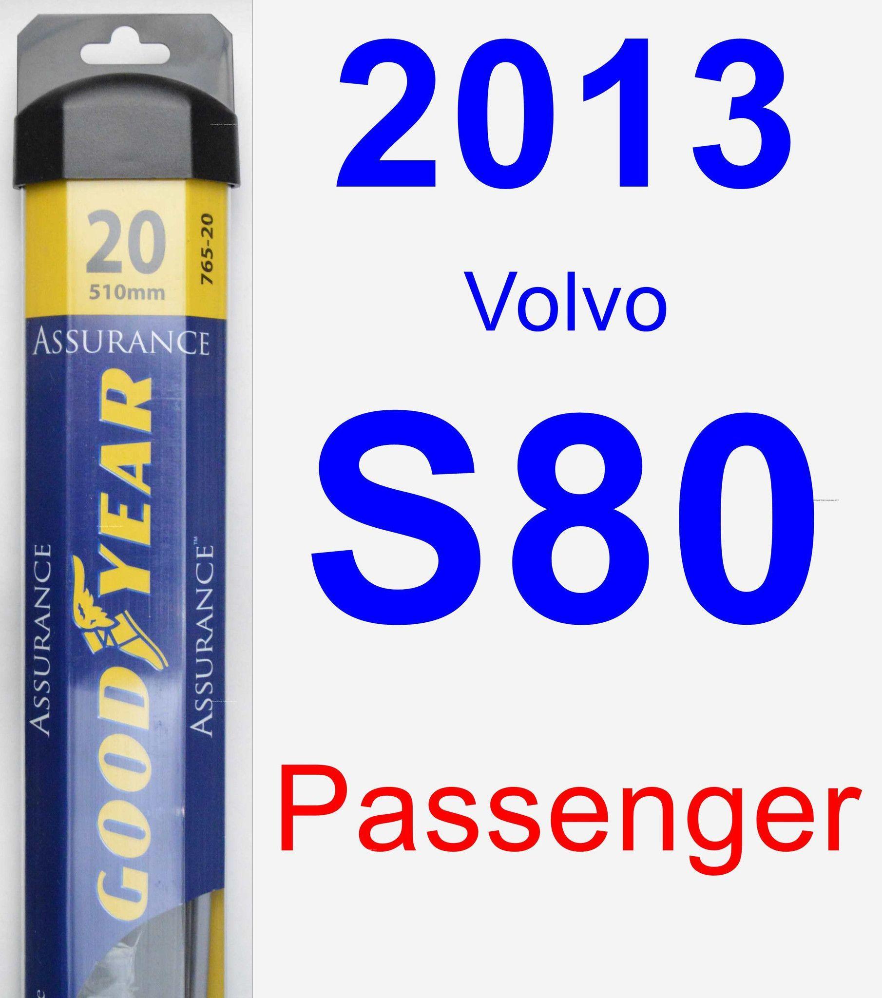 Passenger Wiper Blade for 2013 Volvo S80 - Assurance