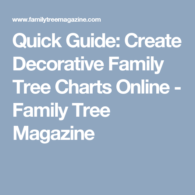 quick guide create decorative family tree charts online family
