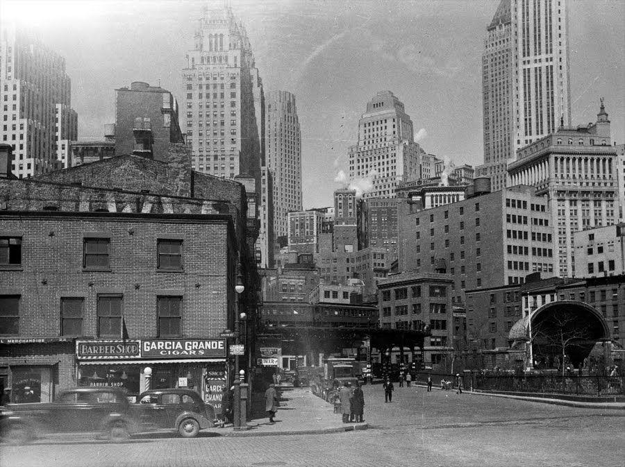 Lower Manhattan 1935 Nyc History Lower Manhattan New York City