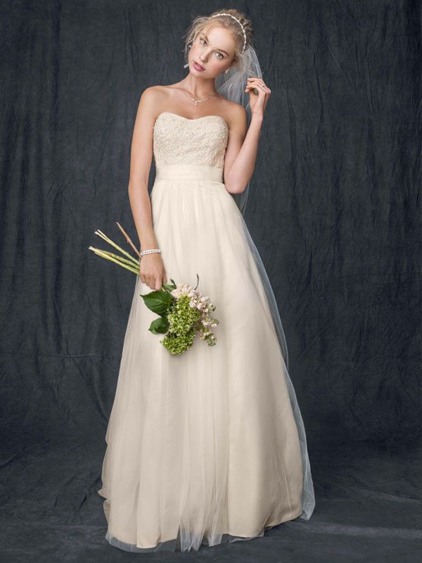 05c6f2b947ae1 Romantic strapless Beaded and lace gown I Style #WG3586 I @David's Bridal