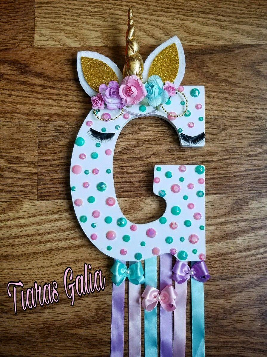 Unicornio unicor porta mo os fiesta unicornios - Letras infantiles para puertas ...