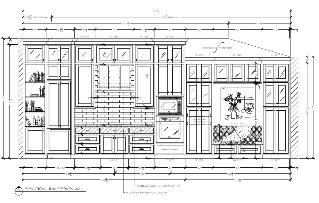 Kitchen And Breakfast Elevation Drawing Final Kristi Lei