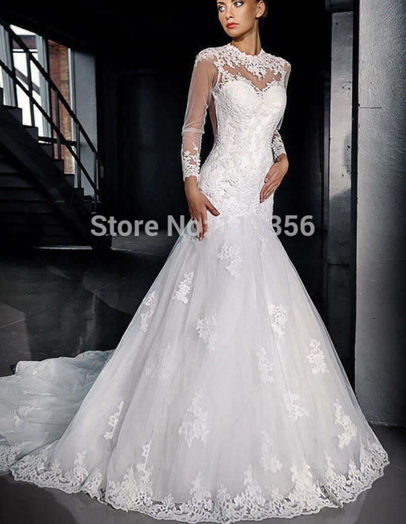 Find more wedding dresses information about new style long sleeve