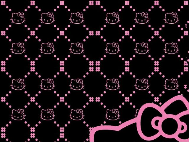 Black Hello Kitty Wallpaper My Image Sense Hello Kitty Wallpaper Hello Kitty Art Hello Kitty Backgrounds