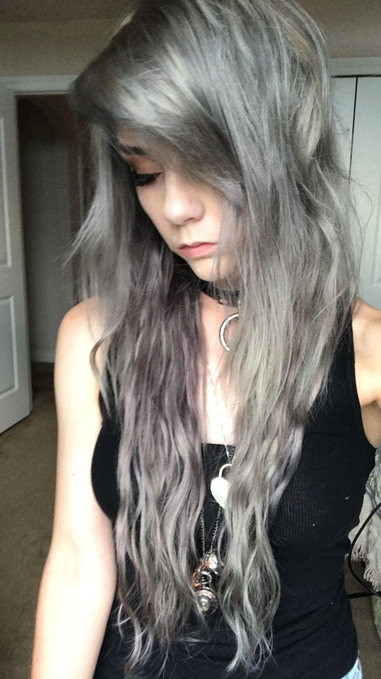 silver grey hair iroiro Silver grey hair, Hair, Silver hair