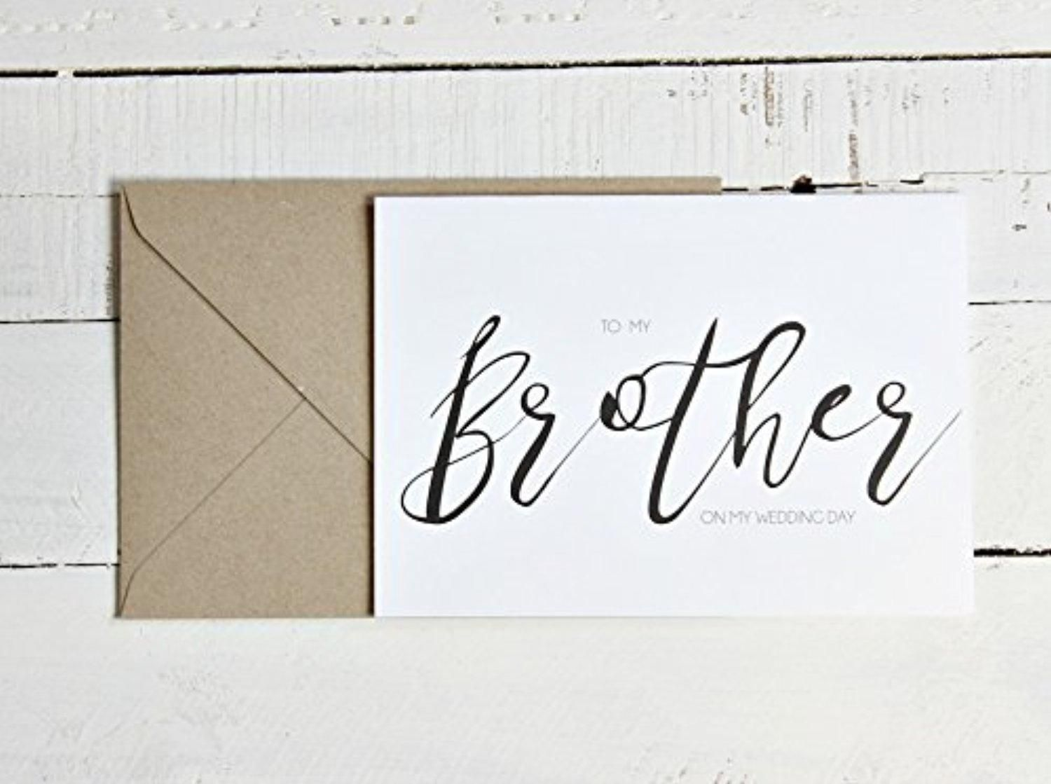 To My Brother On Wedding Day Card