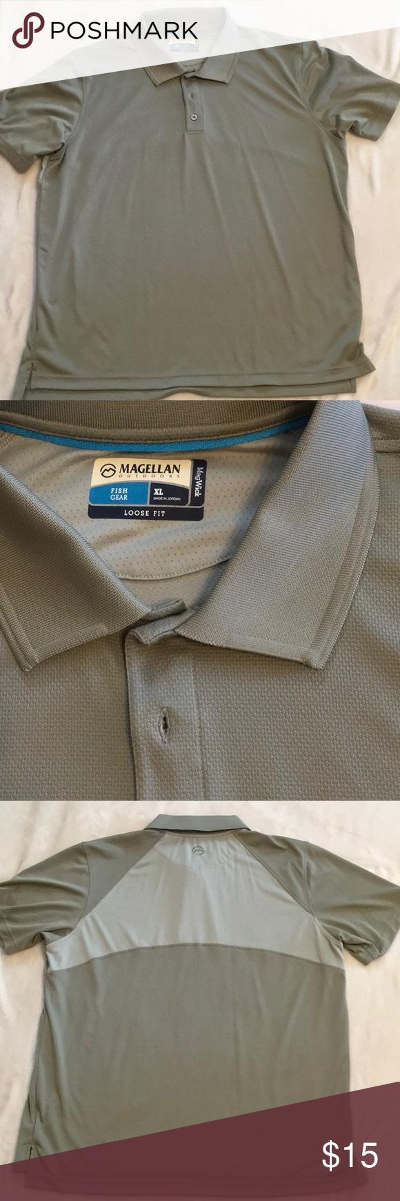 3c937d12 Magellan Outdoors Men's Laguna Polo Shirt NEW. XL. Short sleeves 3-button  placket