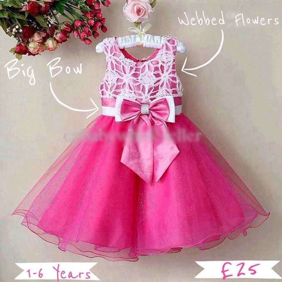 Fushia and White Party Dress with Sparkly Netting Skirt and Webbed ...